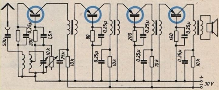 Die ersten Geräte mit Transistoren der ersten Generation ...